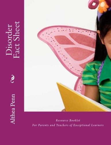 Download Disorder Fact Sheet Resource Booklet: For Parents and Teachers of Exceptional Learners ebook