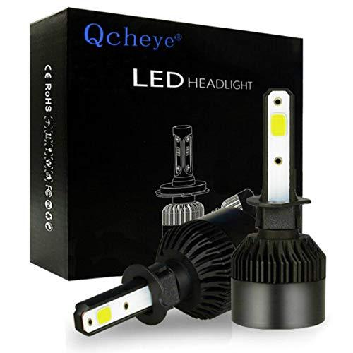 (H1 LED Headlight Bulbs - 6000K 8000LM Super Bright Cool White Bulb Conversion Kit 2pcs - 2 Years Warranty )