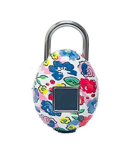 TouchLock Fingerprint Smart Padlock Floral