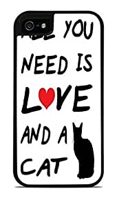 All You Need Is Love and A CAT Black 2-in-1 Protective Case with Silicone Insert For Ipod Touch 4 Phone Case Cover