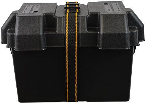 attwood 9067-1 Power Guard 27 Vented Battery Box 27m, Black
