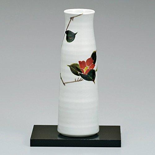 九谷焼 8号花瓶 椿 台付 B01GR8ET32