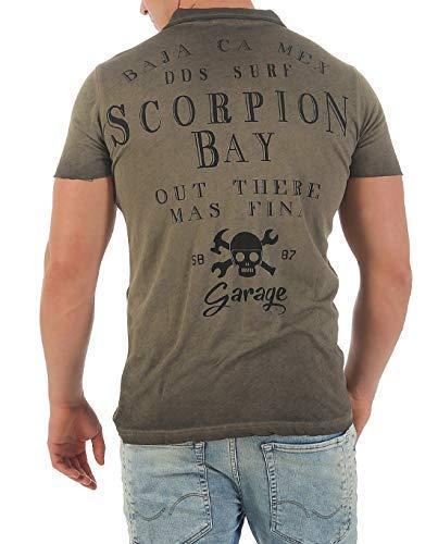 Scorpion Bay Camiseta Hombre Camiseta Polo mtc3345: Amazon.es ...