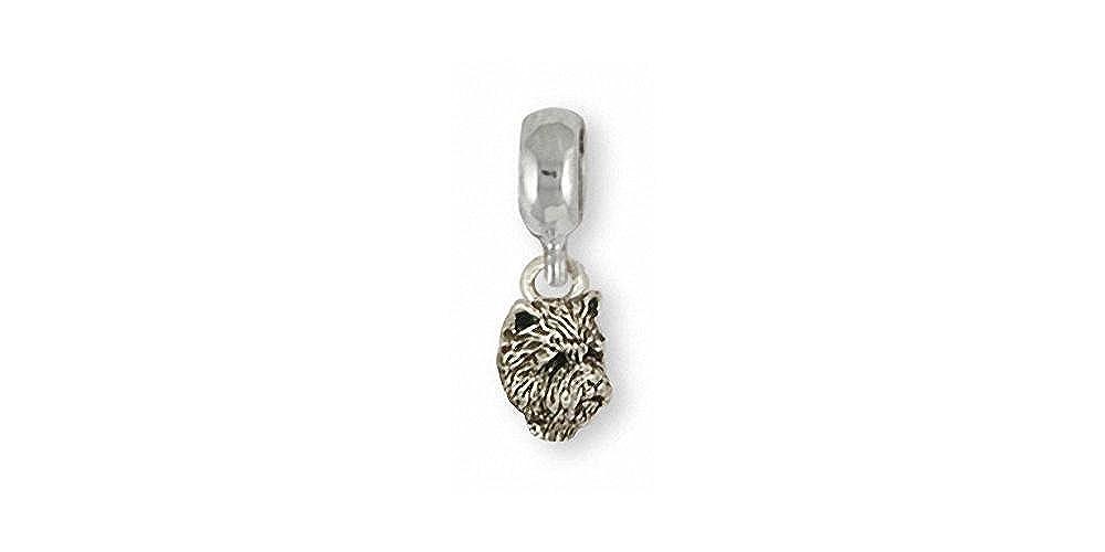 Westie Jewelry Sterling Silver Westie Charm Slide Handmade Dog Jewelry CNWT20-PNS