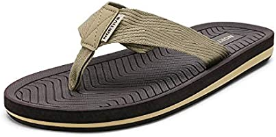 NORTIV 8 Men's Flip Flops Thong Sandals Comfortable Light Weight Beach Shoes
