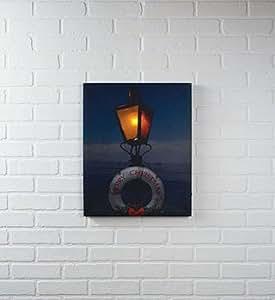 Merry christmas lamp nautical life saver for Christmas wall art amazon