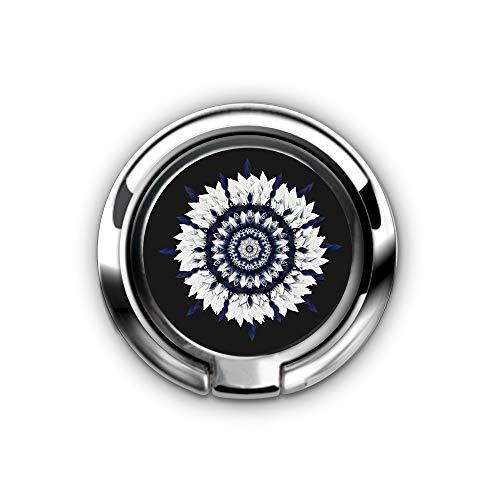 er Stand, Phone Grip Car Mounts 360 ¡ã Rotation Finger Ring Stent Compatible iPhone X 8 7 6 Plus - Blue Sash Flower Mandala ()