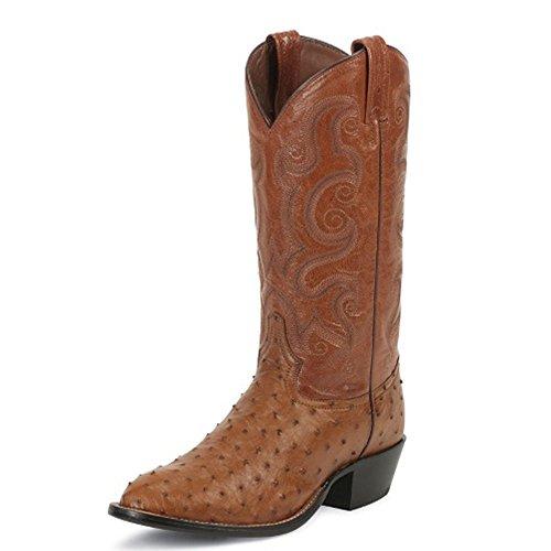 Tony Lama Mens Guymon 13 Höjd (ct834) | Fot Jordnötter Sprött Struts | Pådrags Västra Stövlar | Cognac / Jordnötter Sprött Cowboy Läder Boot | Handgjorda I Usa