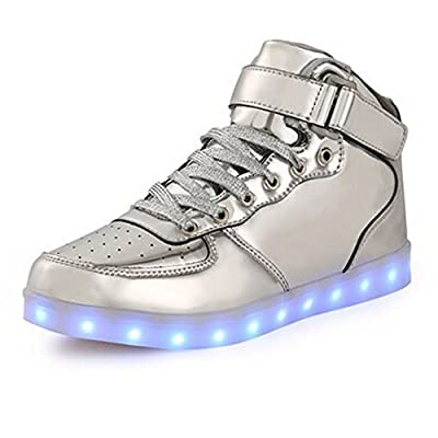Toddler Little Big Kids Boy Girl USB Flashing LED Light Shoes Sneaker Yintx26