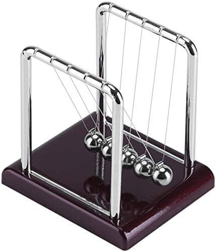 Vnsport Metal Balance Swinging Ball Cradle Physics Science Pendulum Desk Fun Toy Gift
