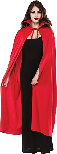 Rubie's Women's Full Length Cape With Stand-up Collar, Red, One Size -