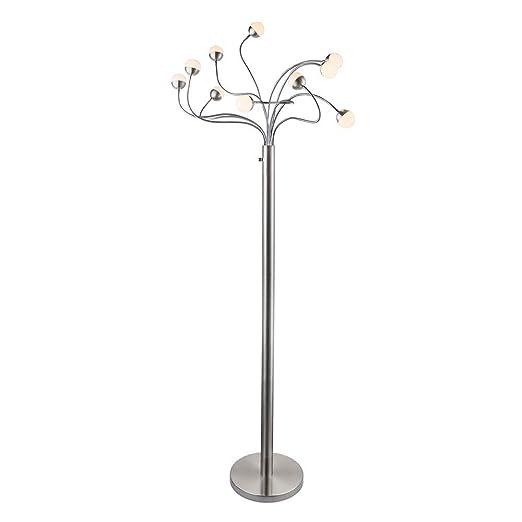 Lámpara de pie LED ROSLIN EEK: A+ 10 x Flexo opal 50 W ...