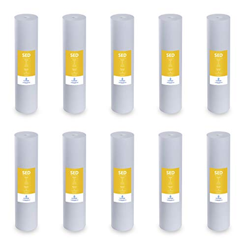 Express Water - 10 Pack Big Blue Sediment Replacement Filter - SED Dirt, Sand, Rust High Capacity Water Filter - Whole House Filtration - 5 Micron - 4.5