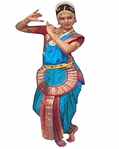 Bharatnatyam Costume (Sky Blue Bharatnatyam Dance Costume)