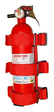 Rugged Ridge 13305.20 Red Roll Bar Fire Extinguisher Holder by Rugged Ridge (Image #1)