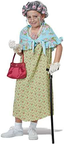 Girls Old Lady Costume Kit Standard