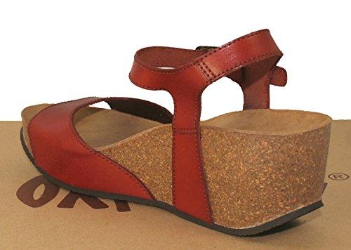 TAN Sauerstoff Keil Sandale Malaga Fußbett XIfnxrX