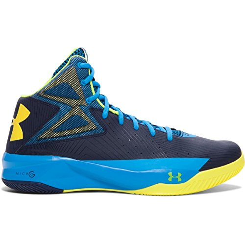 Midnight Blue Shoes (Under Armour Men's Rocket Basketball Shoes Midnight Navy/Electric Blue/Yellow Ray Size 11.5 M US)