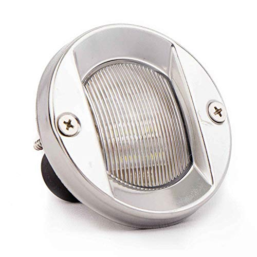 Flush Stern Light (Five Oceans LED Round Stern White Transom Light Flush Mount, 3