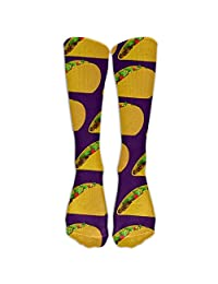 Yummy Taco Unisex Funny Pattern Crew Socks Compression Socks For Boys And Girls