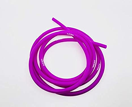 Length 5 Feet // 1.5 Meter ID 0.08 2mm 6mm OD 0.24 Blue Color High Performance Silicone Vacuum Hose