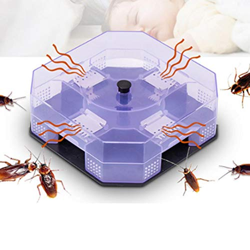 Quaanti 2018 New Cockroach House Roacher Insects Bugs Capture Bait Trap Killer Catcher Bo Crystal Gift (White)
