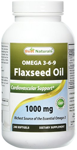 Best Naturals Flaxseed 1000 Softgels product image