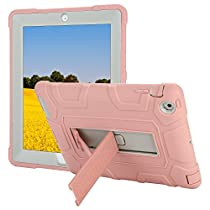 TKOOFN 2017 iPad Pro 10.5 Case, Heavy Duty Shockproof Rugged Hybrid Protective Case Cover with Build in Kickstand For iPad Pro 10.5 2017