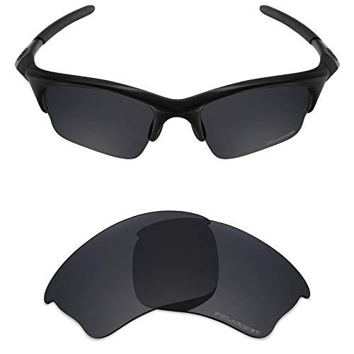 Mryok+ Polarized Replacement Lenses for Oakley Half Jacket XLJ - Stealth Black