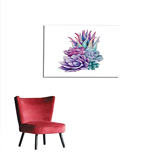 All of better Photo Wall Paper Watercolor Succulent Plants Composition Floral Bouquet Illustration Isolated on White Background Mural 36