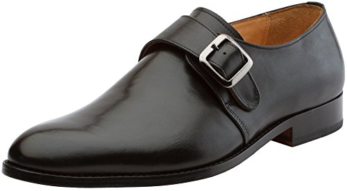 3DM Lifestyle Handcrafted Men's Genuine Leather Plain Single Monk Strap Modern Classic Dress Shoes Black 2014 newest cheap price outlet limited edition exclusive for sale a1Gi2yBYJE