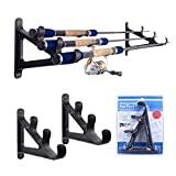 Cheap Croch Fishing Rod Wall Rack Space Saving Organizer for Hiking Poles, Ski Poles, Hokey Sticks and Fishing Rods – 2set