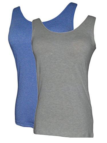 Vogue of Eden - Camiseta sin mangas - para mujer Grey-Blue