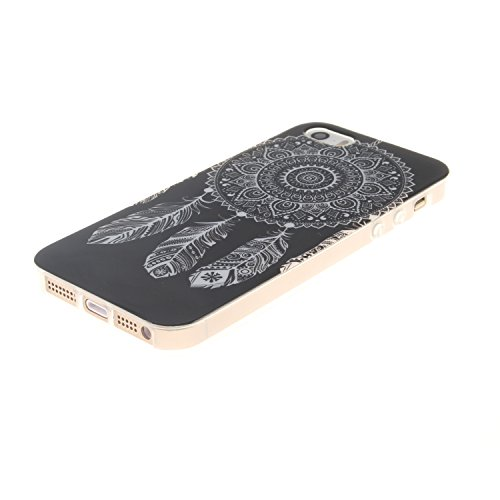Custodia iPhone 5 5S SE , LH Nero Chimica Del Vento TPU Silicone Cristallo Morbido Case Cover Custodie per Apple iPhone 5 5S SE