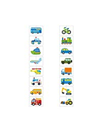 Flash Cards Cognition Puzzle Anti Tear Puzzle Set Matching Game Educational Toy for Baby Transportation Theme 1Set