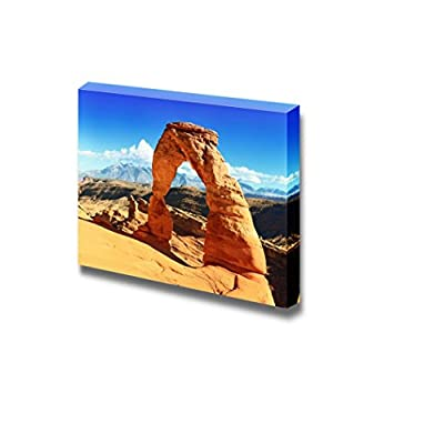 Canvas Prints Wall Art - Beautiful Landscape Sunset at Famous Delicate Arch, Utah, USA | Modern Home Deoration/Wall Art Giclee Printing Wrapped Canvas Art Ready to Hang - 24