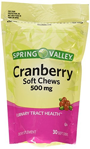 Spring Valley Natural Cranberry 500 Mg Soft Chews (30 Chews) by Spring ()