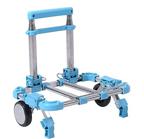 Shopping Trolley Luggage Bag With Wheels (Blue) - 9