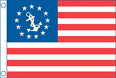 """Taylor Made Products 1118 US Yacht Ensign Boat Flag (12"""" x 18"""")"""