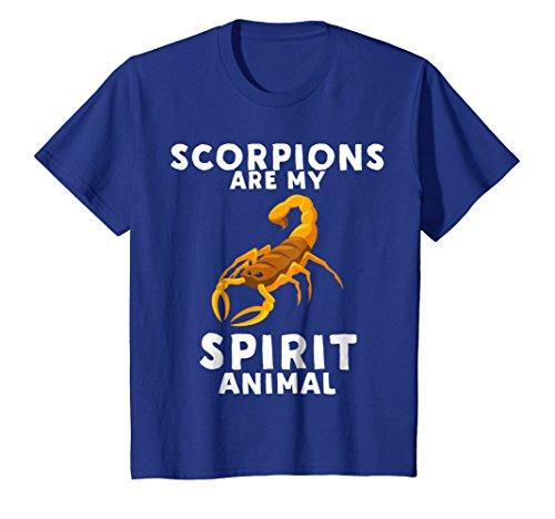 Kids Scorpions Are My Spirit Animal - Funny Scorpion T-Shirt 8 Royal Blue