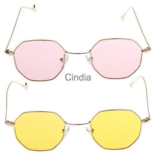 VIPASNAM-2pc Summer Vintage Octagon Sunglasses Men Women Retro Glasses - Sunglasses Roial Dos