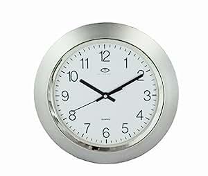 Amazon Com Telesonic Silver Quartz Wall Clock Quiet Sweep