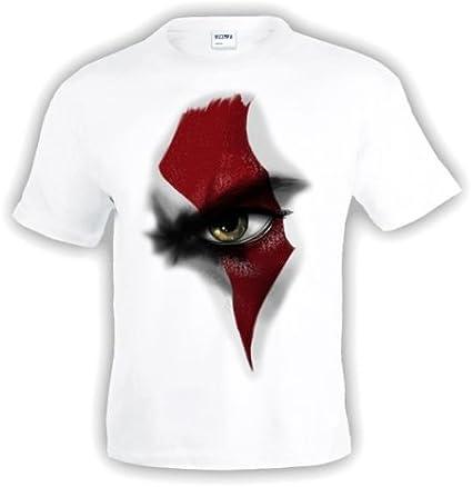 Mx Games Camiseta God of War - Kratos te vigila - Blanca Manga Corta (Talla: Talla-XXXL): Amazon.es: Juguetes y juegos