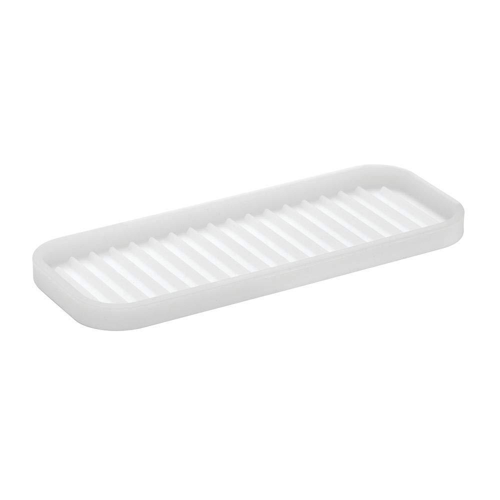 Trasparente mDesign Set da 2 tappetini Termici in Silicone Tappetino Porta Piastra Vassoio Ideale per poggiare arricciacapelli e Piastra per Capelli
