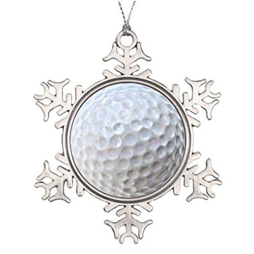 Take_U Ideas For Decorating Christmas Trees Golf Ball Christmas Tree Snowflake Ornaments -