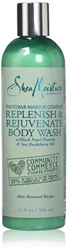Shea Moisture Zanzibar Marine Complex Replenish & Rejuvenate Body Wash for Unisex, 13 Ounce - Marine Moisture