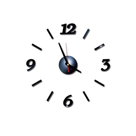 Tianya - Reloj de Pared con números Romanos 3D, acrílico, Espejo, Adhesivo para