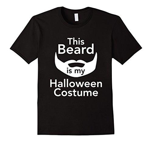 [Mens This Beard Is My Halloween Costume Men's T-shirt XL Black] (Manly Halloween Costumes)