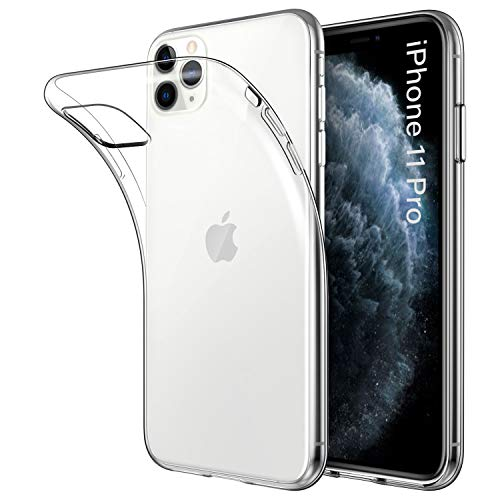 DiMiK Case for iPhone 11 Pro, Clear Ultra Thin Ultra Slim Fit Soft Silicone Crystal Transparent TPU Case Compatible with iPhone 11 Pro(5.8inch)-Clear (Best Iphone 5 Tpu Case)