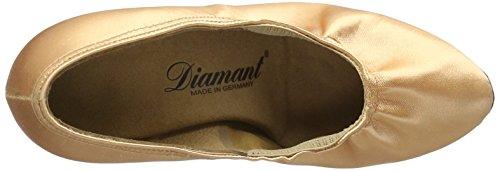 Diamant Damen Tanzschuhe 069-085-094, Zapatos de Tacón para Mujer Dorado (Weiß-silber)